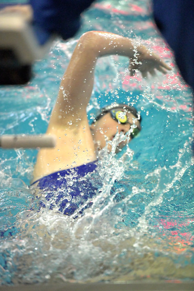 Matthew Gaston | The Sheridan Press<br>Sheridan's Zoe Robison makes the turn before finishing her last 100 meters during the 200 SC Meter Individual Medley Saturday, Sept. 28, 2019.