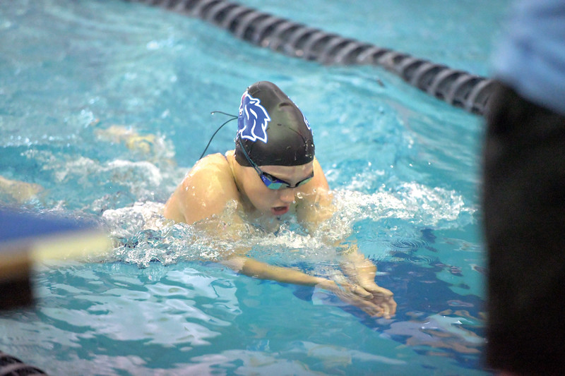 Matthew Gaston | The Sheridan Press<br>Sheridan's Isabel Cleland finishes the 200 SC Meter Individual Medley with the breast stroke during the 2019 Sheridan Gilrs Invite Saturday, Sept. 28, 2019.