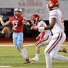 Lumberton Raider Drake Boykin, 12, loses control of the ball for a moment during the 1st quater against the Carthage Bulldogs for the 4A Area Round Playoff Friday, Nov 22, 2019 in Lumberton, Tx.  Photo: Drew Loker/Special to The Enterprise