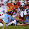 Lumberton Raider Cade Danna, 11, runs for a gain against the Carthage Bulldogs for the 4A Area Round Playoff Friday, Nov 22, 2019 in Lumberton, Tx.  Photo: Drew Loker/Special to The Enterprise