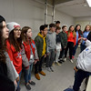 Lumberton Raider Ensemble Choir prepares the National Anthem in the match against the LCM Bears Friday night in Lumberton. Photo: Drew Loker/Special to The Enterprise