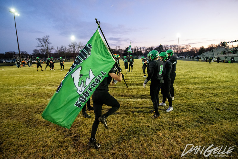 Dragons Football vs Rockford in Section 2AAA Championship