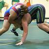 Wrestling between Kokomo HS and Eastern HS on Dec. 2, 2020. <br /> Heavy Weight - Kokomo's Sam Baity vs. Eastern's Tyler Wright<br /> Tim Bath | Kokomo Tribune