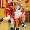 12-8-20<br /> Western vs Kokomo girls basketball<br /> Western's Audrey Rassel is fouled by Kokomo's Brooke Hughes.<br /> Kelly Lafferty Gerber | Kokomo Tribune