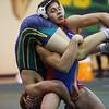 Wrestling between Kokomo HS and Eastern HS on Dec. 2, 2020. <br /> 152 - Kokomo's Wilmer Corrales and Eastern's Bradie Porter<br /> Tim Bath | Kokomo Tribune