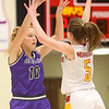 2-8-20<br /> Northwestern vs McCutcheon girls basketball sectional championship <br /> Klair Merrell throws a pass.<br /> Kelly Lafferty Gerber | Kokomo Tribune