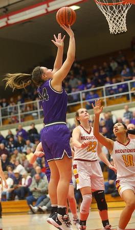 2-8-20<br /> Northwestern vs McCutcheon girls basketball sectional championship <br /> Kendall Bostic puts up a shot.<br /> Kelly Lafferty Gerber | Kokomo Tribune