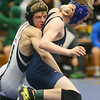 2-1-20<br /> Sectional wrestling<br /> Western's Justin Brantley defeats Oak Hill's Austin Lawrence in the 113.<br /> Kelly Lafferty Gerber | Kokomo Tribune