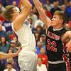 2-11-20<br /> Northwestern vs Blackford boys basketball<br /> NW's Austin O'Neal puts up a shot.<br /> Kelly Lafferty Gerber | Kokomo Tribune