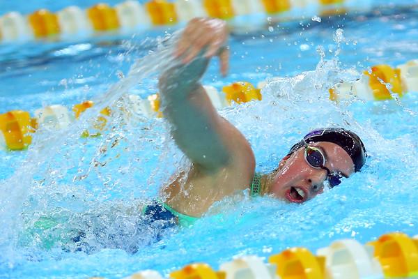 Jaylyn Harris swimming in the Sectional Finals on February 8, 2020.<br /> Tim Bath | Kokomo Tribune