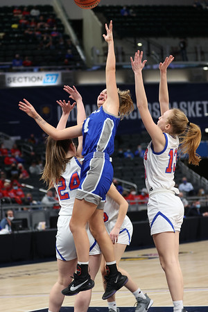 2-26-21<br /> Tipton Blue Devils lose to Linton-Stockton Miners in the class 2A girls State Finals at Bankers Life.<br /> Tim Bath   Kokomo Tribune