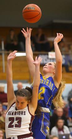 2-4-20<br /> Tri-Central vs Wes-Del girls basketball sectional<br /> TC's Kenadie Fernung puts up a shot.<br /> Kelly Lafferty Gerber | Kokomo Tribune
