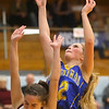 2-4-20<br /> Tri-Central vs Wes-Del girls basketball sectional<br /> TC's Kenadie Fernung puts up a shot.<br /> Kelly Lafferty Gerber | Kokomo Tribune