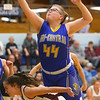 2-4-20<br /> Tri-Central vs Wes-Del girls basketball sectional<br /> TC's Melissa Lewis goes for a rebound.<br /> Kelly Lafferty Gerber | Kokomo Tribune