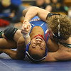2-1-20<br /> Sectional wrestling<br /> Eastern's Tytus Morrisett defeats Kokomo's Kymani Howard in the 160.<br /> Kelly Lafferty Gerber | Kokomo Tribune