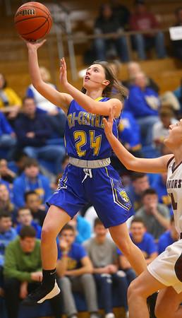 2-4-20<br /> Tri-Central vs Wes-Del girls basketball sectional<br /> TC's Lily Stogdill shoots.<br /> Kelly Lafferty Gerber | Kokomo Tribune