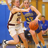 2-4-20<br /> Tri-Central vs Wes-Del girls basketball sectional<br /> TC's Kenadie Fernung heads down the court.<br /> Kelly Lafferty Gerber | Kokomo Tribune