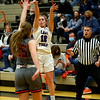 2-5-21<br /> Ellie Boyer on a 3 point shot as Northwestern girls loose to Harrison in Friday evenings sectional basketball match up in West Lafayette.<br /> Tim Bath | Kokomo Tribune