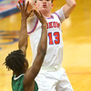 2-6-20<br /> Kokomo vs Arsenal Tech boys basketball<br /> Kokomo's Bobby Wonnell shoots.<br /> Kelly Lafferty Gerber | Kokomo Tribune