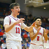 2-8-20<br /> Basketball Day-Kokomo vs Tipton<br /> Bobby Wonnell, left, and Ta'Shy Stewart celebrate as Kokomo takes the lead over Tipton near the end of the game.<br /> Kelly Lafferty Gerber | Kokomo Tribune