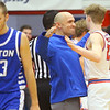 2-8-20<br /> Basketball Day-Kokomo vs Tipton<br /> Coach Bob Wonnell congratulates Jackson Richards during a timeout after Richards basket gives Kokomo a lead over Tipton.<br /> Kelly Lafferty Gerber | Kokomo Tribune