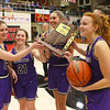 2-8-20<br /> Northwestern vs McCutcheon girls basketball sectional championship <br /> The Northwestern girls basketball seniors carry their sectional championship trophy back to their teammates after their fourth straight win.<br /> Kelly Lafferty Gerber | Kokomo Tribune