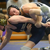 2-1-20<br /> Sectional wrestling<br /> Western's Hunter Cottingham defeats Oak Hill's Brody Arthur in the 132.<br /> Kelly Lafferty Gerber | Kokomo Tribune
