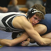 2-1-20<br /> Sectional wrestling<br /> Western's Chandler Ciscell is defeated by Oak Hill's Harper Dedman in the 126.<br /> Kelly Lafferty Gerber | Kokomo Tribune
