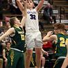 2-13-21<br /> Eli Edwards shooting as Northwestern defeats Eastern in Saturday evenings boys basketball matchup 49-44.<br /> Tim Bath | Kokomo Tribune