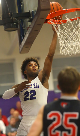 2-11-20<br /> Northwestern vs Blackford boys basketball<br /> NW's Tayson Parker puts up a shot.<br /> Kelly Lafferty Gerber | Kokomo Tribune