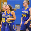 2-4-20<br /> Tri-Central vs Wes-Del girls basketball sectional<br /> TC's Lily Stogdill celebrates after the win.<br /> Kelly Lafferty Gerber | Kokomo Tribune