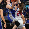 2-26-21<br /> Abigail Parker shooting for the Tipton Blue Devils who lose to Linton-Stockton Miners in the class 2A girls State Finals at Bankers Life.<br /> Tim Bath | Kokomo Tribune