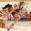 2-8-20<br /> Northwestern vs McCutcheon girls basketball sectional championship <br /> McKenna Layden heads down the court.<br /> Kelly Lafferty Gerber | Kokomo Tribune