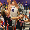 2-11-20<br /> Northwestern vs Blackford boys basketball<br /> NW's Eli Edwards pulls down the rebound.<br /> Kelly Lafferty Gerber | Kokomo Tribune