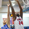 2-8-20<br /> Basketball Day-Kokomo vs Tipton<br /> Kokomo's R.J. Oglesby and Tipton's Dalton Money go for a rebound.<br /> Kelly Lafferty Gerber | Kokomo Tribune