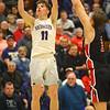 2-11-20<br /> Northwestern vs Blackford boys basketball<br /> NW's Nathan Bennett puts up a three.<br /> Kelly Lafferty Gerber | Kokomo Tribune