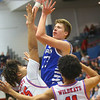 2-8-20<br /> Basketball Day-Kokomo vs Tipton<br /> Tipton's Ben Humrichous puts up a shot.<br /> Kelly Lafferty Gerber | Kokomo Tribune
