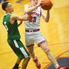 2-6-20<br /> Kokomo vs Arsenal Tech boys basketball<br /> Kokomo's Jackson Richards heads to the basket.<br /> Kelly Lafferty Gerber | Kokomo Tribune