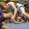 2-1-20<br /> Sectional wrestling<br /> Western's Aidan Belt defeats Marion's Nic Elliott in the 120<br /> Kelly Lafferty Gerber | Kokomo Tribune