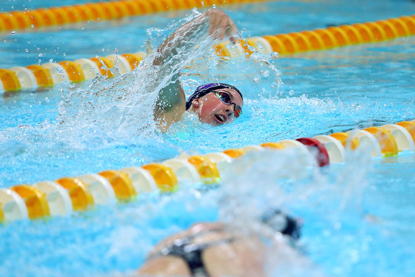 Jaylyn Harris swimming in the Sectional Finals on February 8, 2020.<br /> Tim Bath | Kokomo Tribune