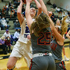 2-5-21<br /> Leah Carter shooting as Northwestern girls loose to Harrison in Friday evenings sectional basketball match up in West Lafayette.<br /> Tim Bath | Kokomo Tribune