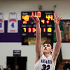 2-13-21<br /> Eli Edwards shoots at the line with about a minute left in the game as Northwestern defeats Eastern in Saturday evenings boys basketball matchup 49-44.<br /> Tim Bath | Kokomo Tribune