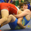 2-1-20<br /> Sectional wrestling<br /> Tri Central's Xzavior Philapy is defeated by Mississinewa's Kyler Funk in the 195.<br /> Kelly Lafferty Gerber | Kokomo Tribune