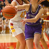 2-8-20<br /> Northwestern vs McCutcheon girls basketball sectional championship <br /> McKenna Layden makes a pass.<br /> Kelly Lafferty Gerber | Kokomo Tribune