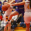 2-8-20<br /> Northwestern vs McCutcheon girls basketball sectional championship <br /> Klair Merrell is fouled at the basket.<br /> Kelly Lafferty Gerber | Kokomo Tribune