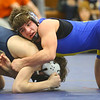 2-1-20<br /> Sectional wrestling<br /> Tri Central's Ethan Mason is defeated by Oak Hill's Aidan Hardcastle in the 152.<br /> Kelly Lafferty Gerber | Kokomo Tribune