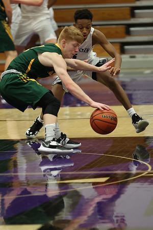 2-13-21<br /> Northwestern defeats Eastern in Saturday evenings boys basketball matchup 49-44.<br /> Tim Bath | Kokomo Tribune
