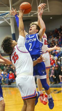 2-8-20<br /> Basketball Day-Kokomo vs Tipton<br /> Tipton's Sam Edwards puts up a shot.<br /> Kelly Lafferty Gerber | Kokomo Tribune