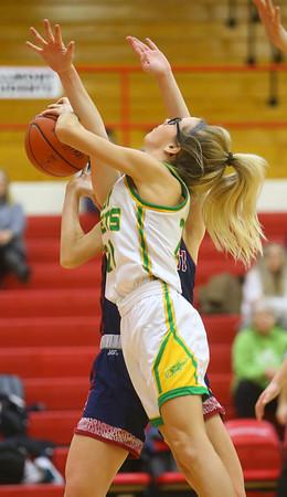 2-5-20<br /> Eastern vs Bellmont girls sectional basketball<br /> Eastern's Lexi James puts up a shot.<br /> Kelly Lafferty Gerber | Kokomo Tribune