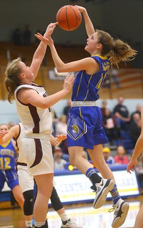 2-4-20<br /> Tri-Central vs Wes-Del girls basketball sectional<br /> TC's Allie Younce puts up a shot.<br /> Kelly Lafferty Gerber | Kokomo Tribune